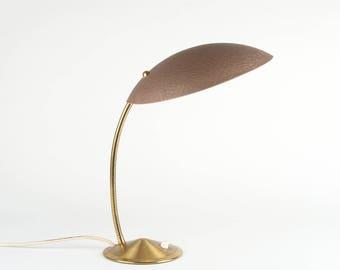 Desk lamp, rockabilly, brass, wool, vintage