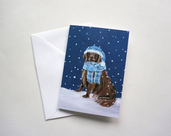 Golden Retriever Holiday Card, Dog Christmas Card, Golden Retriever Christmas Card by Amber Maki