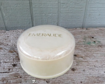 Emeraude  Dusting Powder by Coty 1980's Perfumed Body Powder
