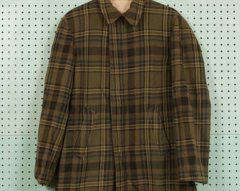 30s/40s Vintage Pendleton Wool Zip-Up Jacket Size M/L Talon Zipper