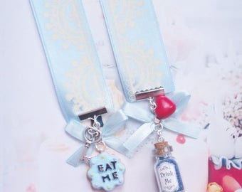 bookmark ribbon alice in wonderland