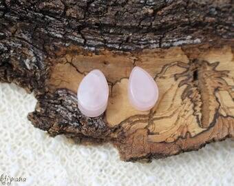 Rose Quartz  Plug, Ear plugs, Gemstone ear plug, Organic jewellery, Tribal plugs, Stone Plugs, Gauge jewellery, Gauge plugs, 12mm plugs