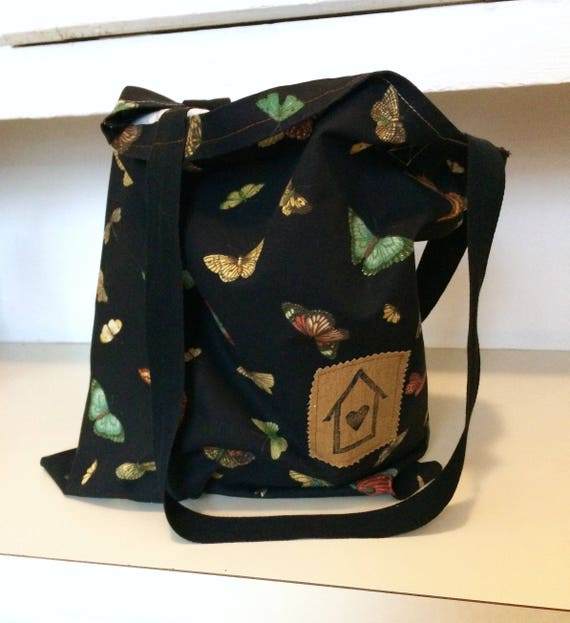 Cloth Shopping Bag, Butterfly Print