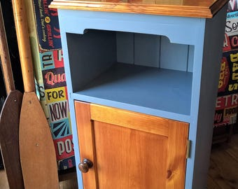 Gorgeous Solid Pine Cupboard Up-cycled to perfection, polished,varnished & finished in Grey