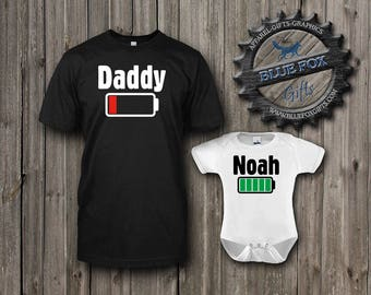 Daddy and Me Shirts,Geekery Shirts,Nerdy family shirts,Father Daughter Shirts,Father Son Shirts,Funny baby shower gift,New Dad shirt,009_2