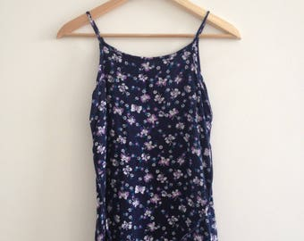 grunge 90s butterfly dress floral abstract retro dress 90s alternative size XS