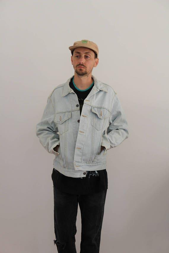 Light Wash Levis Oversized Denim Jacket Mens XL