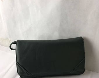 Brenton 1970's Mid Century Green  Clutch/Shoulder Bag