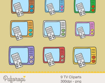 9 TV Cliparts
