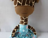 plush giraffe toy giraffe stuffed giraffe CE tested stuffed toy baby shower baby gift handmade toy fabric doll