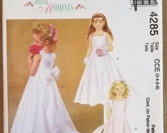 McCall's 4285 - Girls Formal Dress Pattern - Flower Dress Pattern