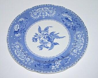 Spode Blue Camilla Blue and White Transferware Dinner Plate
