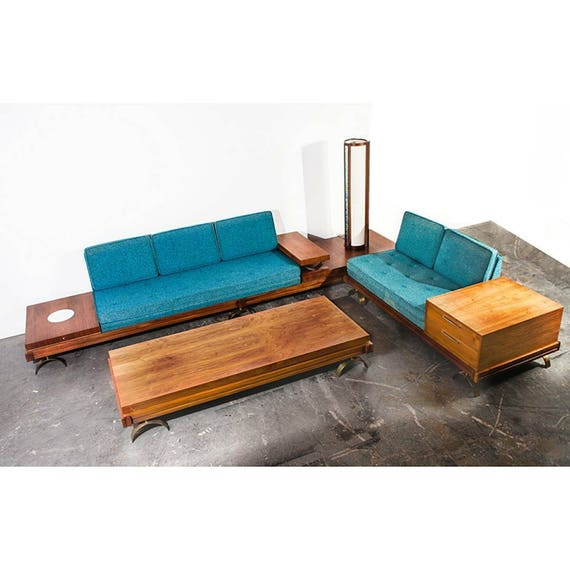 Like this item?  sc 1 st  Etsy : midcentury modern sectional - Sectionals, Sofas & Couches