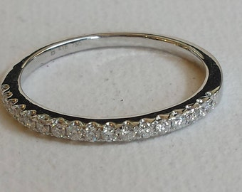 18k white gold diamond  wedding band
