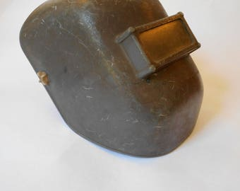 Vintage Lincoln USA Welders Mask / Helmet Industrial Steampunk Costume Welding