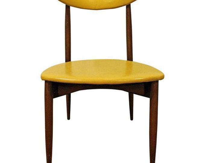 Mid-Century Desk Chair Danish Modern Seymour James Wiener Curved Back Stiletto Side Chair