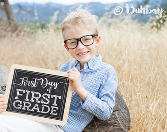 Mega Set of 52 First and Last Day of School Chalkboard Signs | Printable 8.5x11 High Resolution Files | Use again and again!