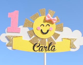 Sun Cake Topper, Cloud cake topper, summer cake topper, summer party, sunhine cake topper, baby shower cake topper