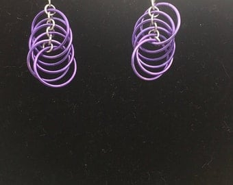 Lilac Spiral Earrings