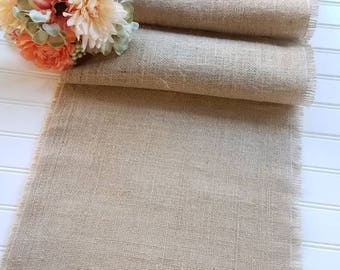 Natural Burlap Table Runner- Farmhouse Decor - Burlap - Tablescape - Rustic Decor - Dining Room Decor - Country Wedding Decor - 14inch