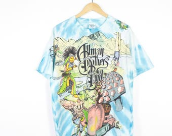 The Allman Brothers Band tie dye all over print shirt - vintage 90s - 1996 - wild oats