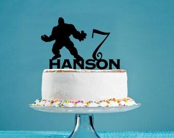 Hulk birthday cake Etsy