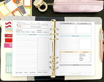 Ultimate Blog Planner - Ultimate Blog Planning Kit - Social Media Planner - Blog Planner - Blog and Social Media Kit - Instant Download