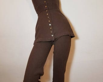 FREE  SHIPPING  1970 Cotton  BellBottoms  Jumpsuit