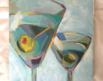Martinis, Gouache, Painting