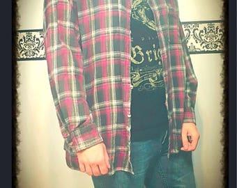 1990's Men's Grunge Flannel,  Size 3XL Tall by McGregor Classics, Vintage Men's Grunge Flannel Shirt, 90's Vintage Plaid Kurt Cobain  Shirt