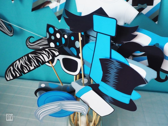 MUSTACHE Bash PHOTOBOOTH Props PRINTABLE - Instant Download