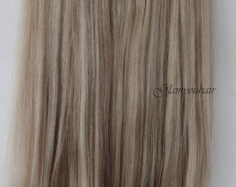 "18"" 160g SECRET-HALO-Magic wire Remy Human Hair extensions!! Thick!!  Grade 4A !! 18/22 mix"