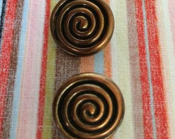 Spiral Buttons, Labyrinth Buttons 17mm
