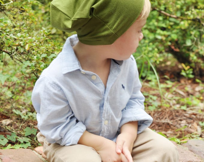 Olive Green Slouchy Toddler Beanie