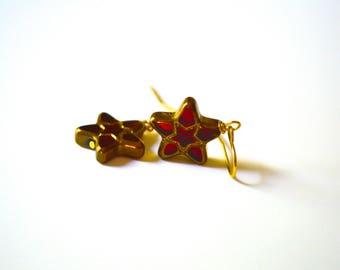 Star Earrings. Dangle Small Earrings. Vintage Earrings. Petite Earrings. Gift For Women. Christmas Gift. Gift Under 15 Dollar. Minimalist.