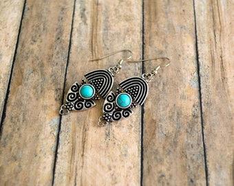 Southwestern Earrings, Tribal Earrings, Jewelry, Earrings, Boho Earrings, Gift For Her, Earrings Under 20 Dollar, Gypsy Earrings, Bohemian.