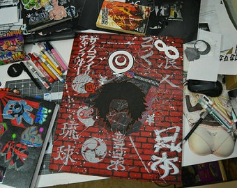 The Man From RyuKyu's ( Samurai Champloo / Anime / Manga ) [ Canvas Panel Painting ]