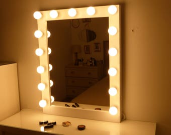 Makeup and jewelry organizers vanity mirrors by for Miroir hollywood ikea