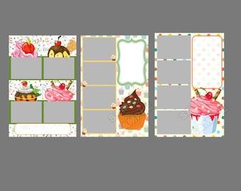 Photo booth template,instant download,1st birthday,cupcake birthday,fun 1st birthday idea,kids birthday, cupcake party idea,