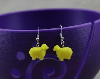 3D Printed Sheep Earrings