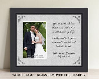 Parents Wedding Gift, Parents of the Groom, Father In Law Gift, Mother In Law Gift, Thank You Gift, Personalized Picture Frame