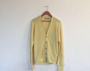 Pale yellow cardigan | Etsy