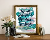 """Bible Verse Print, wall art quotes, quotes poster, poster quote, quote print, quote art, inspirational quote, Typography, Quote, """"Print"""""""