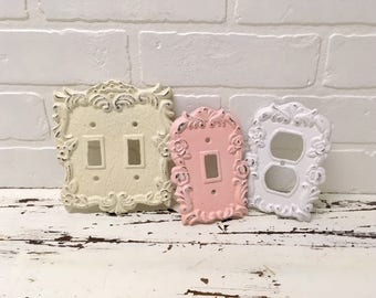 Light Switch Plate/Outlet Cover/Plug/Shabby Chic/Light Switch Cover/