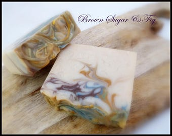 Brown Sugar & Fig handmade soap, artisan soap, fragrance soap, gift soap