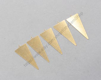 18*42mm 10Pcs Raw Brass Slice Pendants Charms Wholesale Handmade Craft Supplies ZR-7824