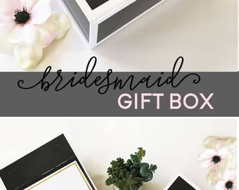 Bridesmaid Proposal Bridesmaid Box Will you be my Bridesmaid Gift Box Bridesmaid Gift Ideas (EB3193SCP) PERSONALIZED EMPTY BOX