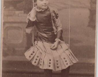 Crewe girl, CDV photo, Carte de Visite, girl on swing, Cheshire, antique photo, Victorian photo, Victorian child, Social History  (cdv/ch7)