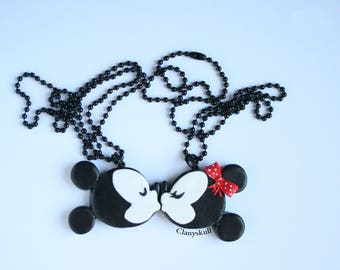 Double necklace Mickey and Minnie.