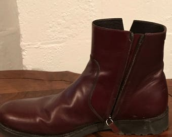 Salvatore Faragamo Zipper Side Boots